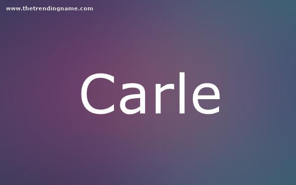 Baby Name Poster For Carle