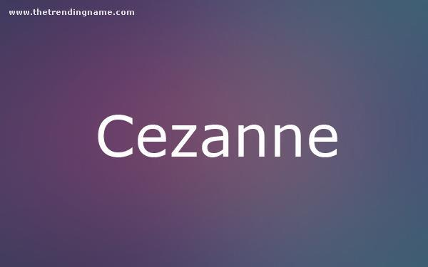 Baby Name Poster For Cezanne