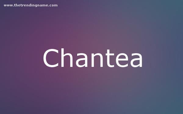 Baby Name Poster For Chantea
