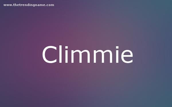 Baby Name Poster For Climmie
