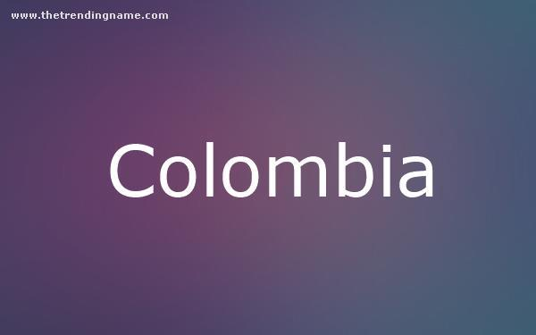 Baby Name Poster For Colombia