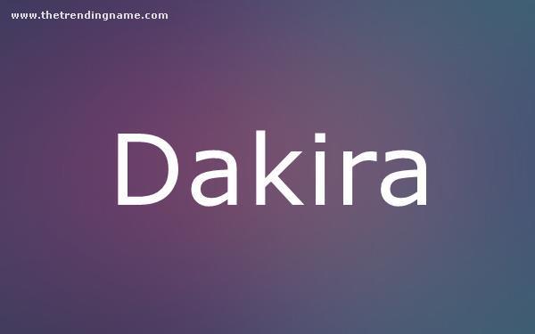 Baby Name Poster For Dakira