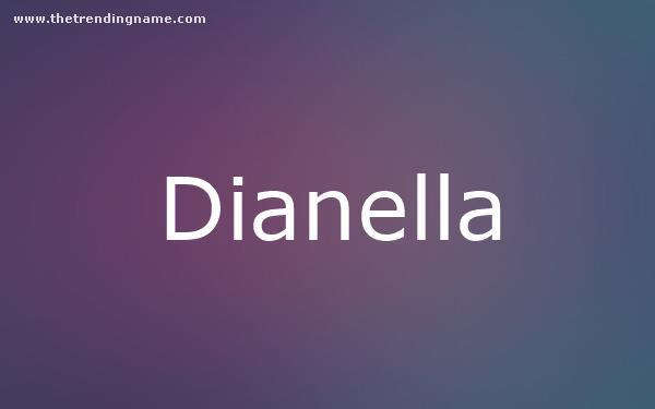 Baby Name Poster For Dianella