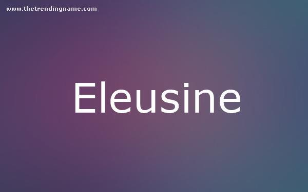 Baby Name Poster For Eleusine
