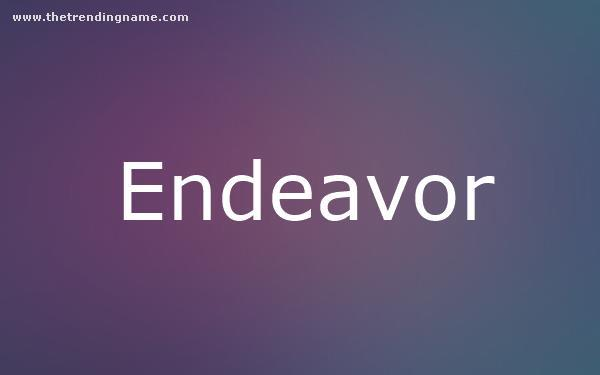 Baby Name Poster For Endeavor
