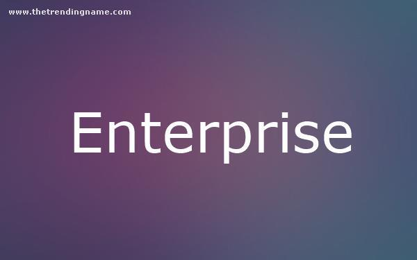 Baby Name Poster For Enterprise