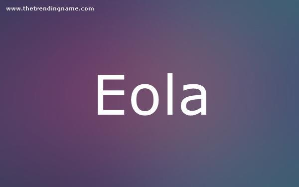 Baby Name Poster For Eola