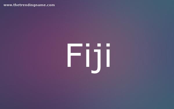 Baby Name Poster For Fiji