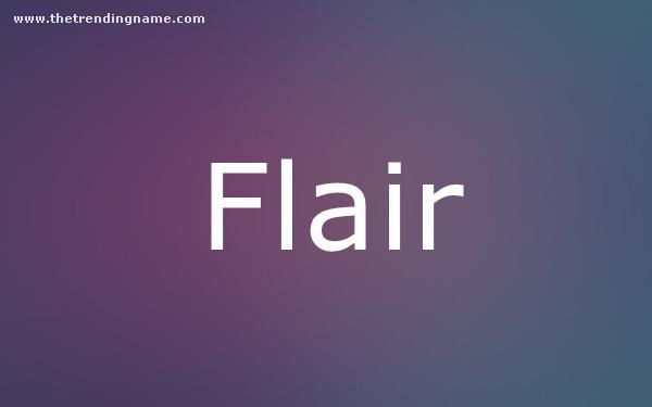 Baby Name Poster For Flair