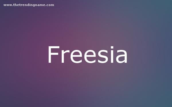 Baby Name Poster For Freesia