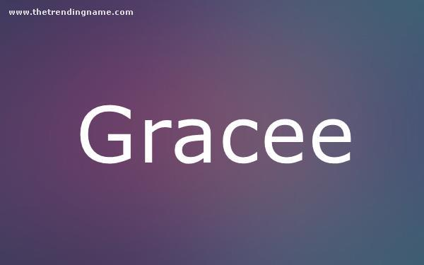 Baby Name Poster For Gracee