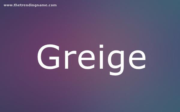 Baby Name Poster For Greige