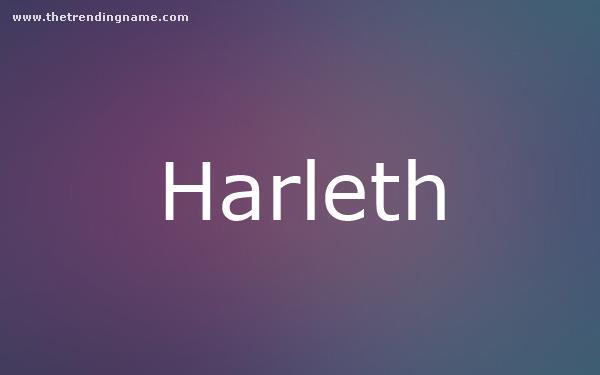 Baby Name Poster For Harleth
