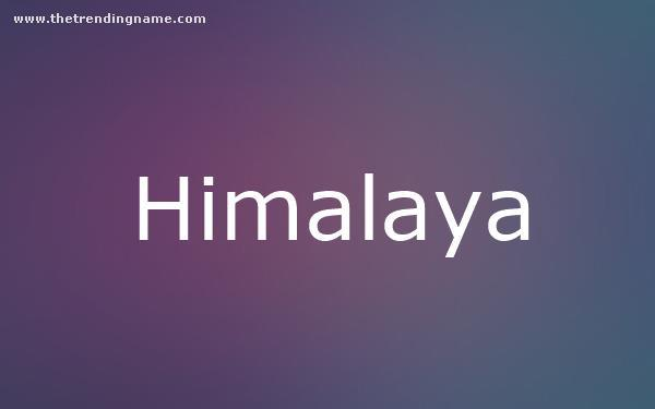 Baby Name Poster For Himalaya
