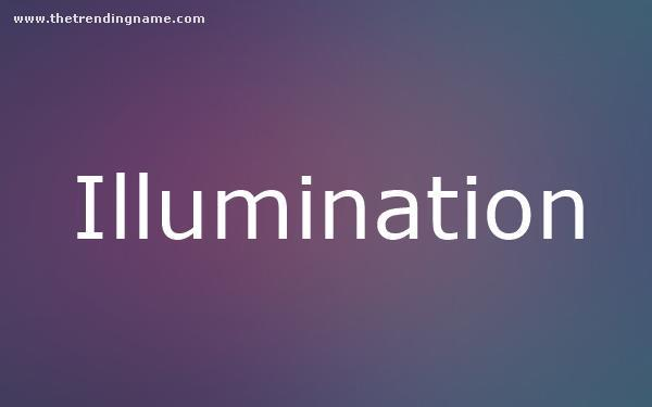 Baby Name Poster For Illumination