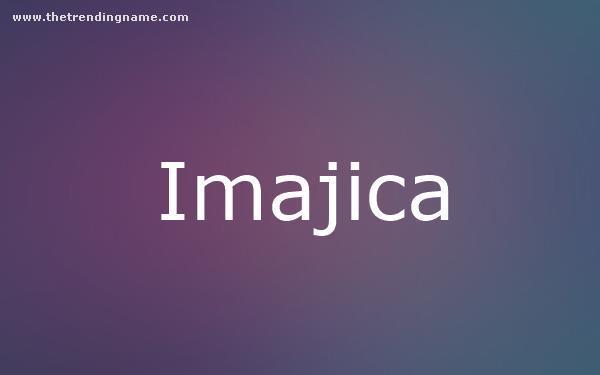 Baby Name Poster For Imajica