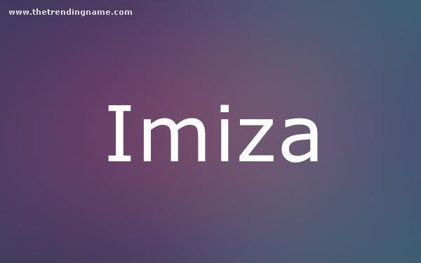 Baby Name Poster For Imiza