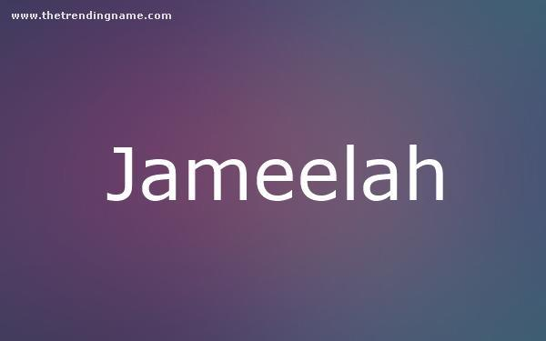 Baby Name Poster For Jameelah