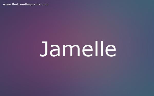 Baby Name Poster For Jamelle