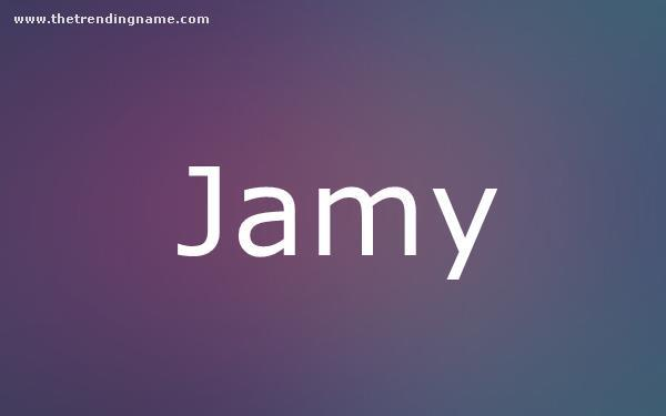 Baby Name Poster For Jamy