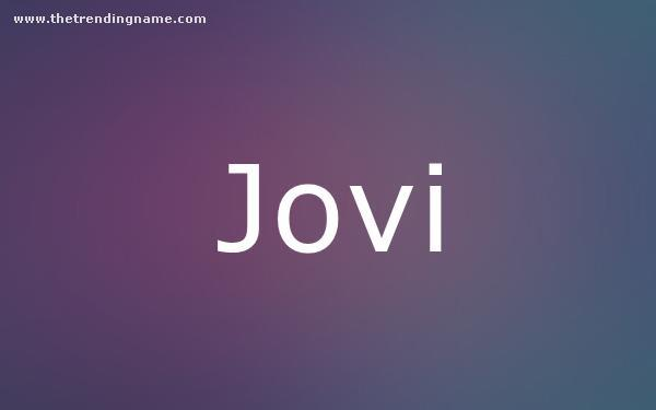 Baby Name Poster For Jovi