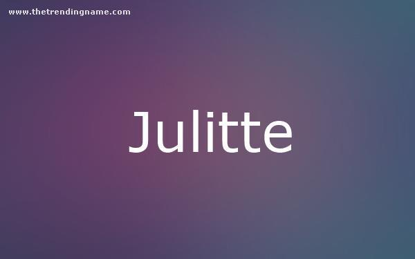 Baby Name Poster For Julitte