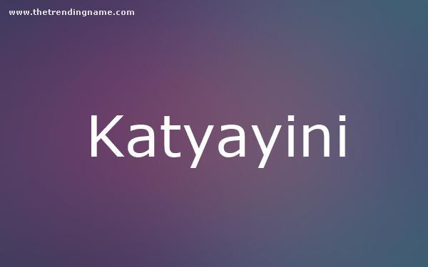 Baby Name Poster For Katyayini