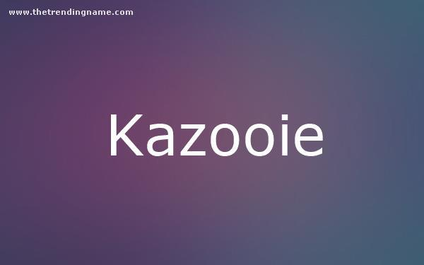 Baby Name Poster For Kazooie