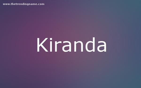 Baby Name Poster For Kiranda