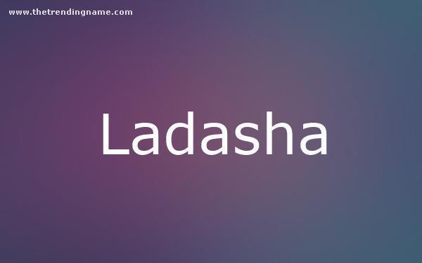 Baby Name Poster For Ladasha