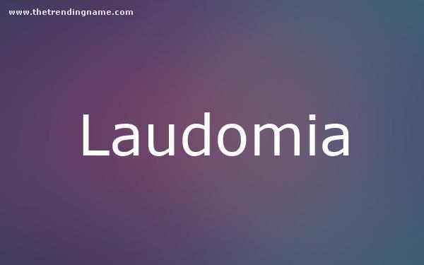 Baby Name Poster For Laudomia