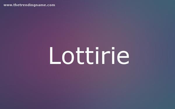 Baby Name Poster For Lottirie