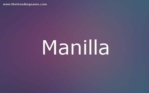 Baby Name Poster For Manilla