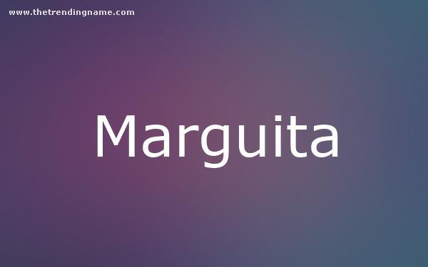 Baby Name Poster For Marguita