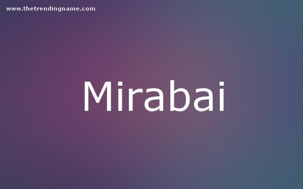 Baby Name Poster For Mirabai