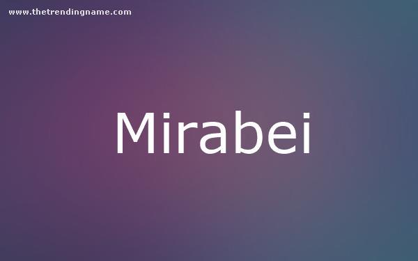 Baby Name Poster For Mirabei