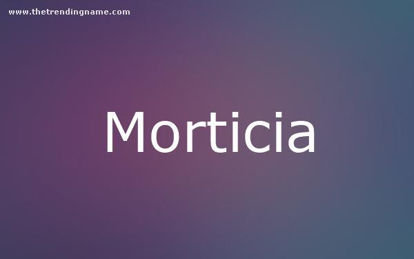 Baby Name Poster For Morticia