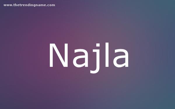 Baby Name Poster For Najla