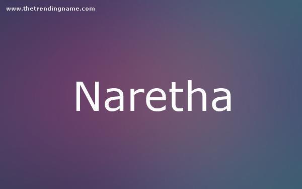 Baby Name Poster For Naretha