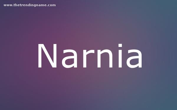 Baby Name Poster For Narnia