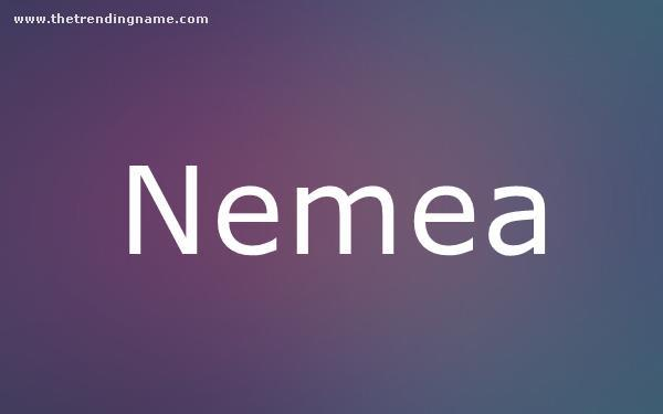 Baby Name Poster For Nemea