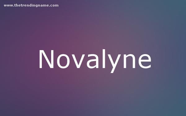 Baby Name Poster For Novalyne