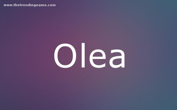 Baby Name Poster For Olea