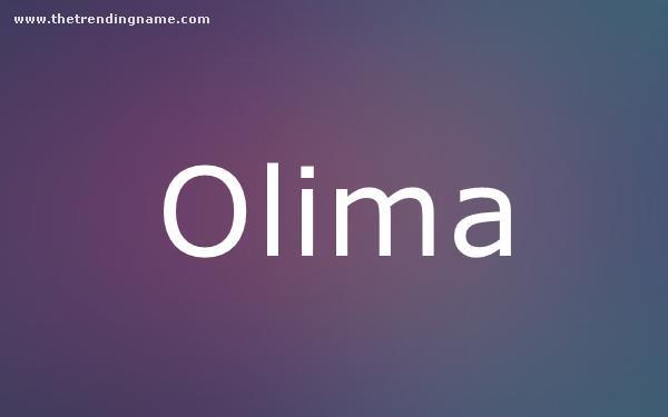 Baby Name Poster For Olima