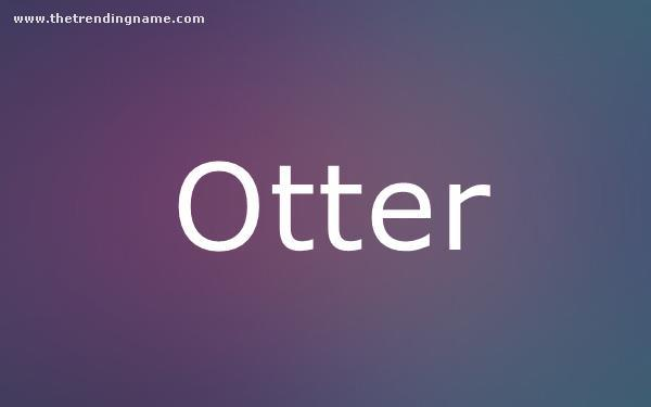 Baby Name Poster For Otter