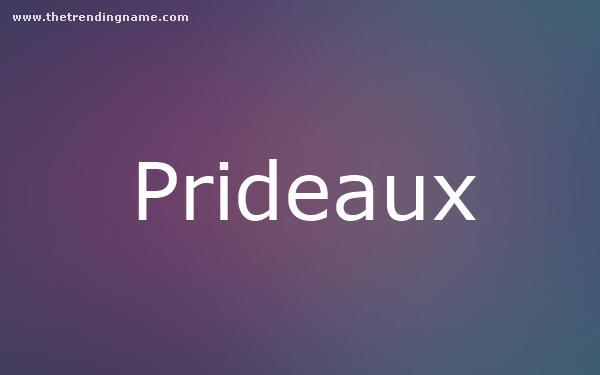 Baby Name Poster For Prideaux