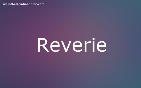 Baby Name Poster For Reverie