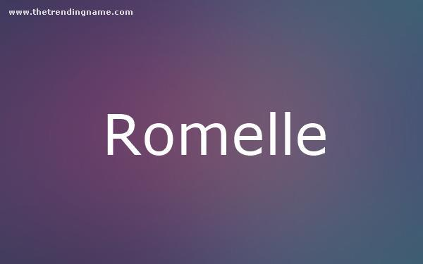 Baby Name Poster For Romelle