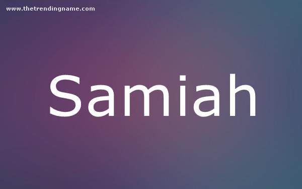 Baby Name Poster For Samiah