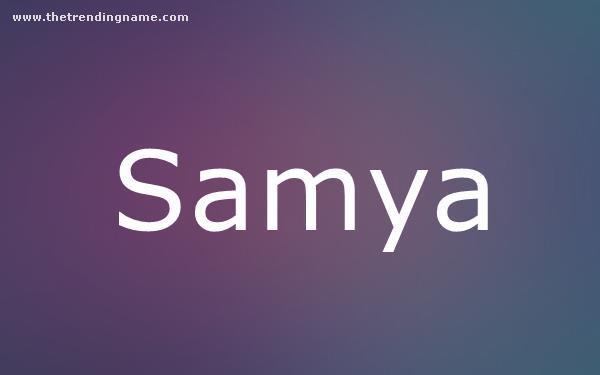 Baby Name Poster For Samya